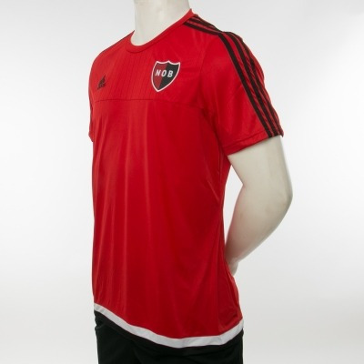 remera newells old boys scarlet/blk/whi adidas