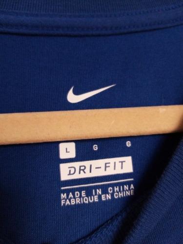 remera nike azul l dri-fit nueva original