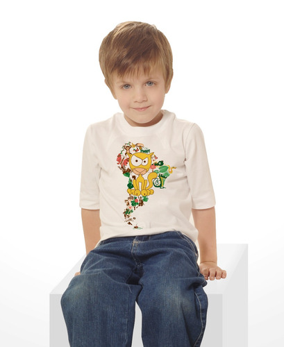 remera niños algodon con estampa