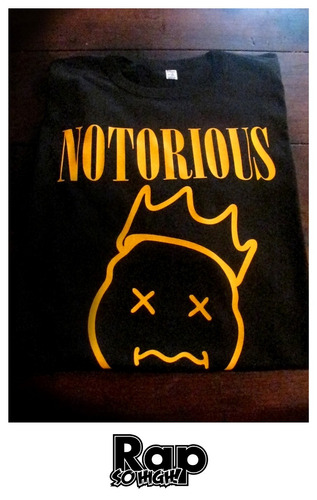remera notorious big, nirvana logo, rap so high, xxxl al 5xl
