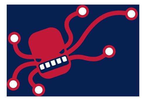remera octopus - estampados con onda - diseño exclusivo