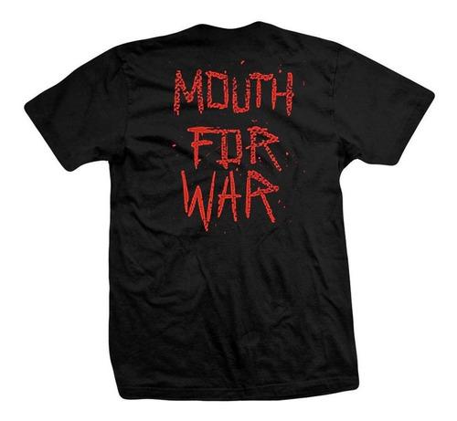 remera pantera  mouth for war