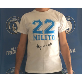 Remera Partido Despedida Diego Milito Blanca