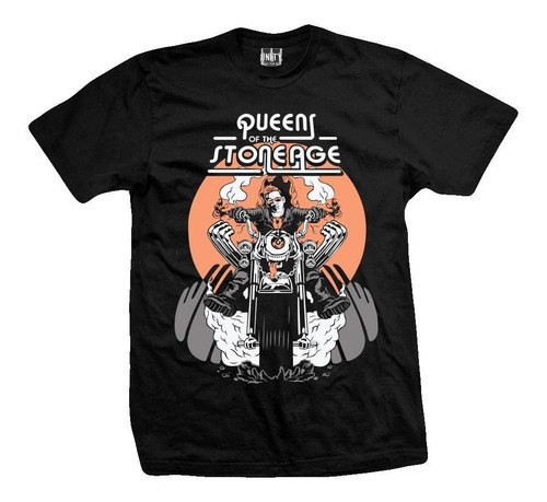 remera queens of the stone age  motorcycle