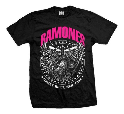 remera ramones  forest hills eagle