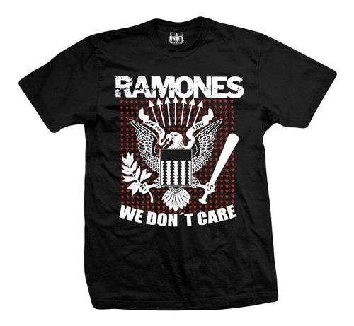 remera ramones  we don't care