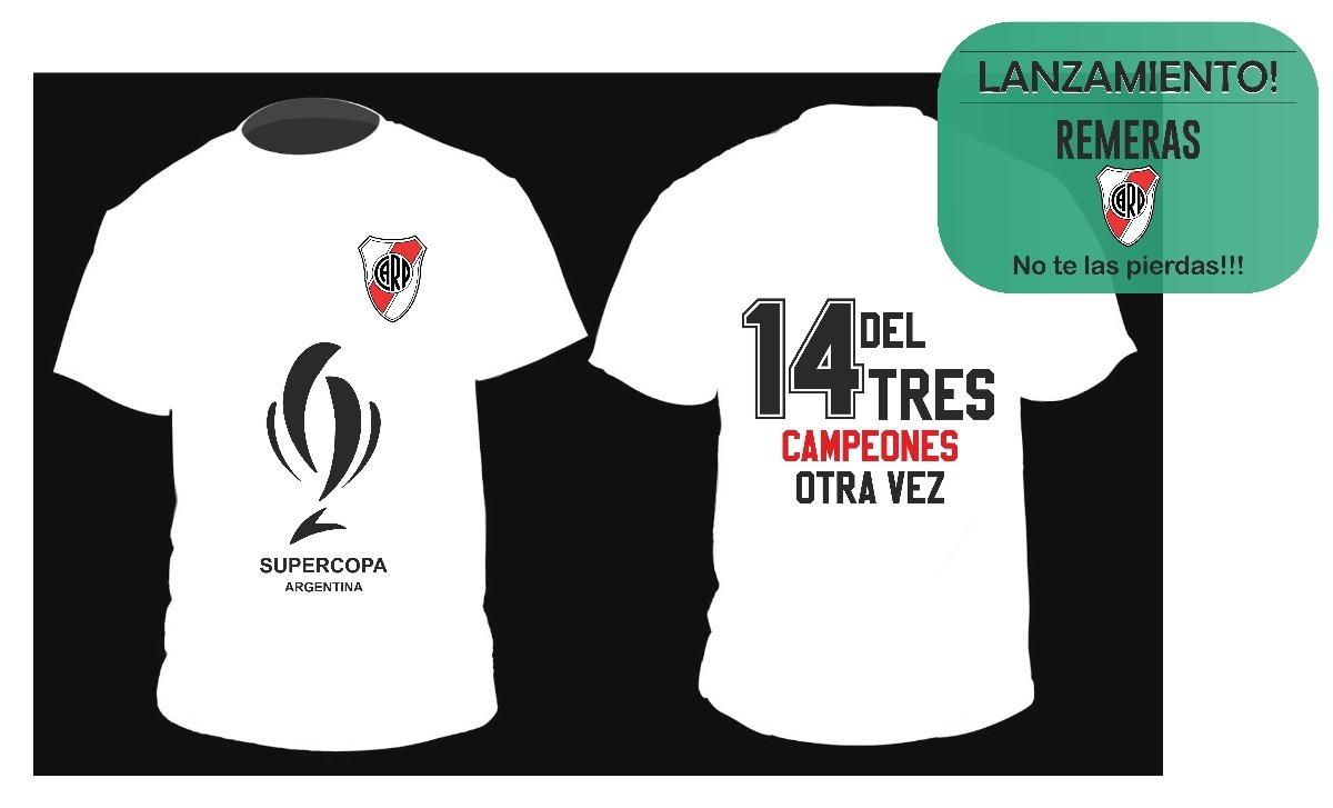 remera river campeon indumentaria supercopa argentina 2018. Cargando zoom. 07d84908f278e