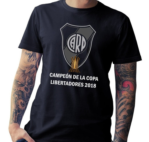 remera river campeon libertadores 2018, el mejor algodon