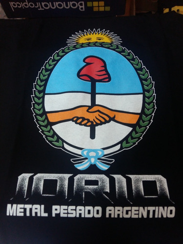 remera rock iorio almafuerte metal pesado a17