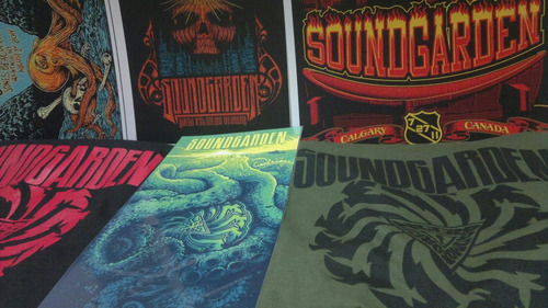 remera rock  soundgarden + lamina de regalo serigrafia