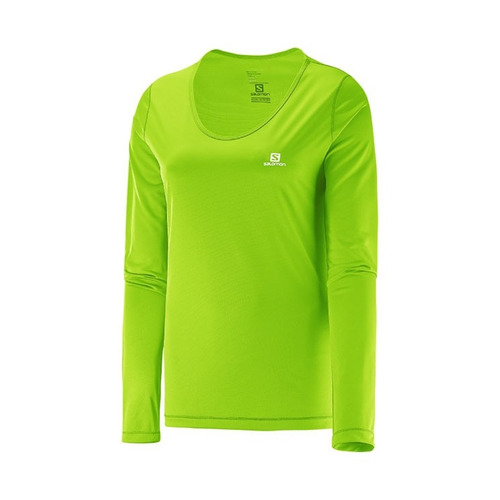 remera salomon comet ls tee granny/green 15065