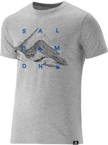 remera salomon - explore ss tee m - hiking - hombre