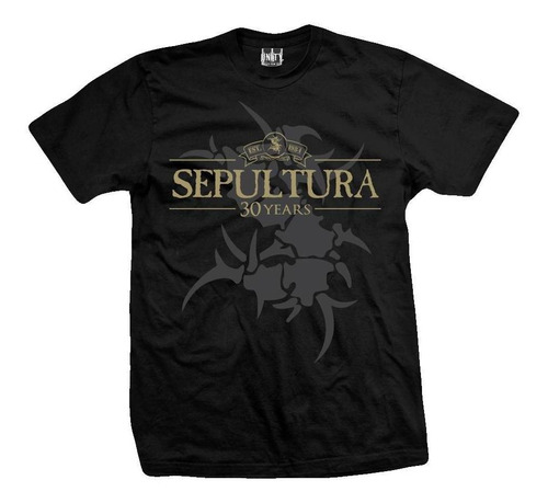 remera sepultura  30 years