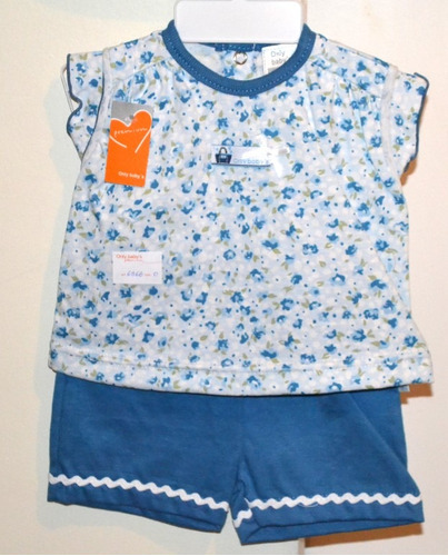 remera + short only baby 2 colores t0/1/3 m little treasure.