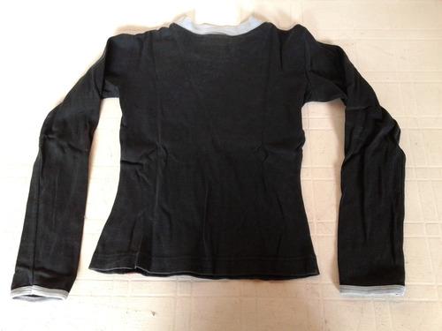 remera softs manga larga 100% algodon