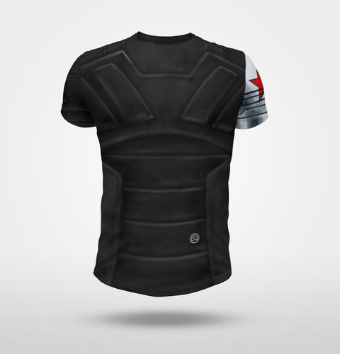 remera  soldado de invierno (imita traje)- full print