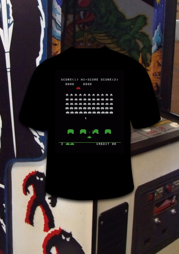 remera space invaders