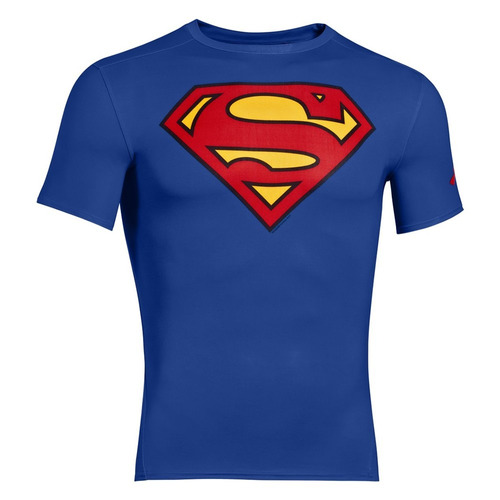 remera ss compresion under armour alter ego superman