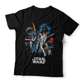 Remera Star Wars  Darth Vader Jedi R2 D2 Leia Dtg