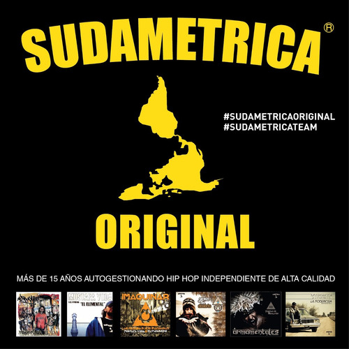 remera sudametrica original * hablan de mi flow * hip hop