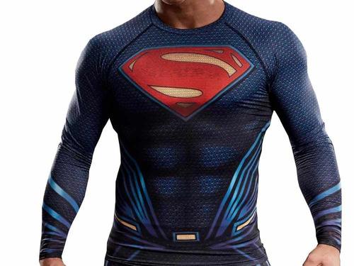 remera superman man steel hombre acero comics compresion dc