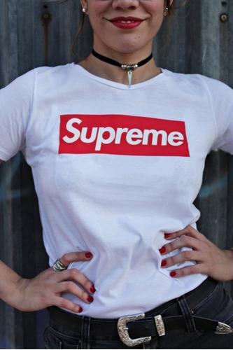 remera supreme hombre mujer -oferta-