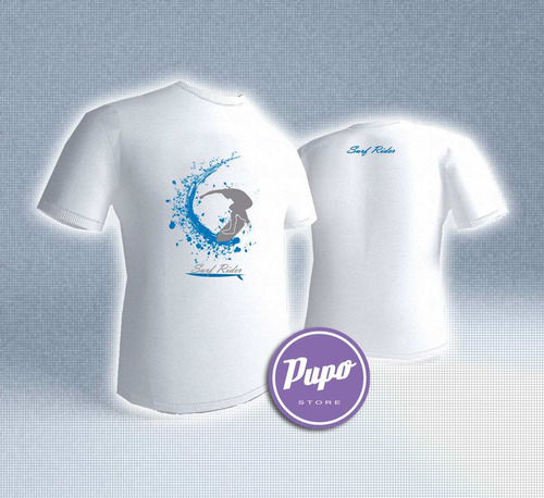 remera surf rider- estampados con onda - diseño exclusivo