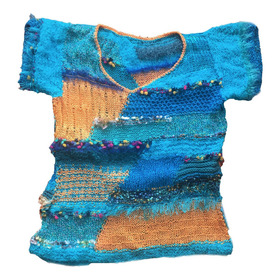 Remera Sweater Tejido A Mano, Diseño Unico
