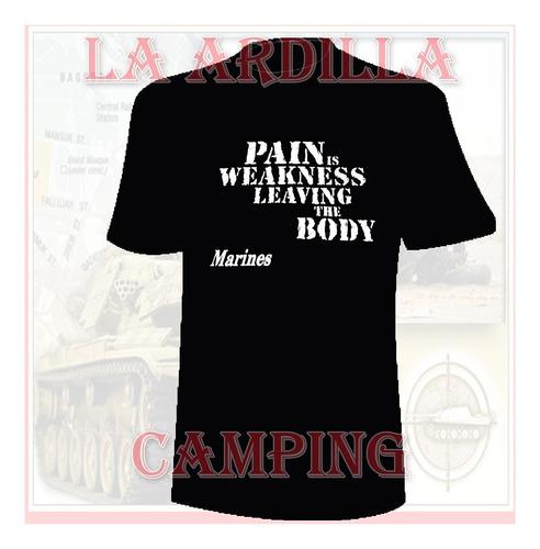 remera tactica estampad airborne - pain marines - us army  -