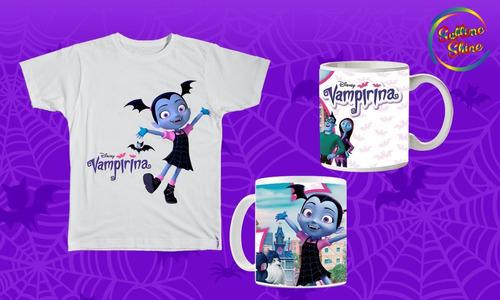 remera + taza vampirina-ladybug-zombisvsplants-pjmask-pony
