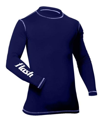 remera termica flash manga larga primera piel camiseta frio