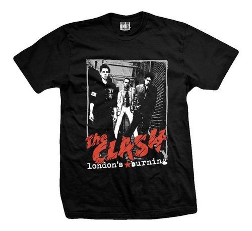remera the clash londons burning