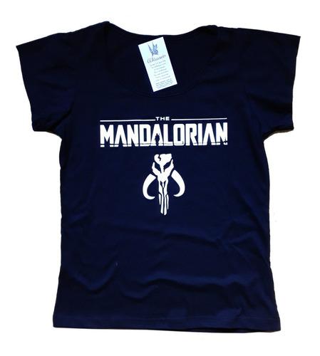 remera the mandalorian baby yoda estampa vinilo navidad