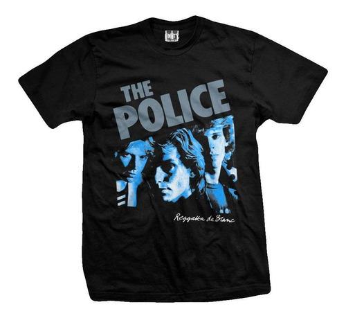 remera the police  reggatta de blanc