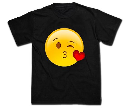 remera unisex algodon estampada 21x29cm emoticones whatsapps