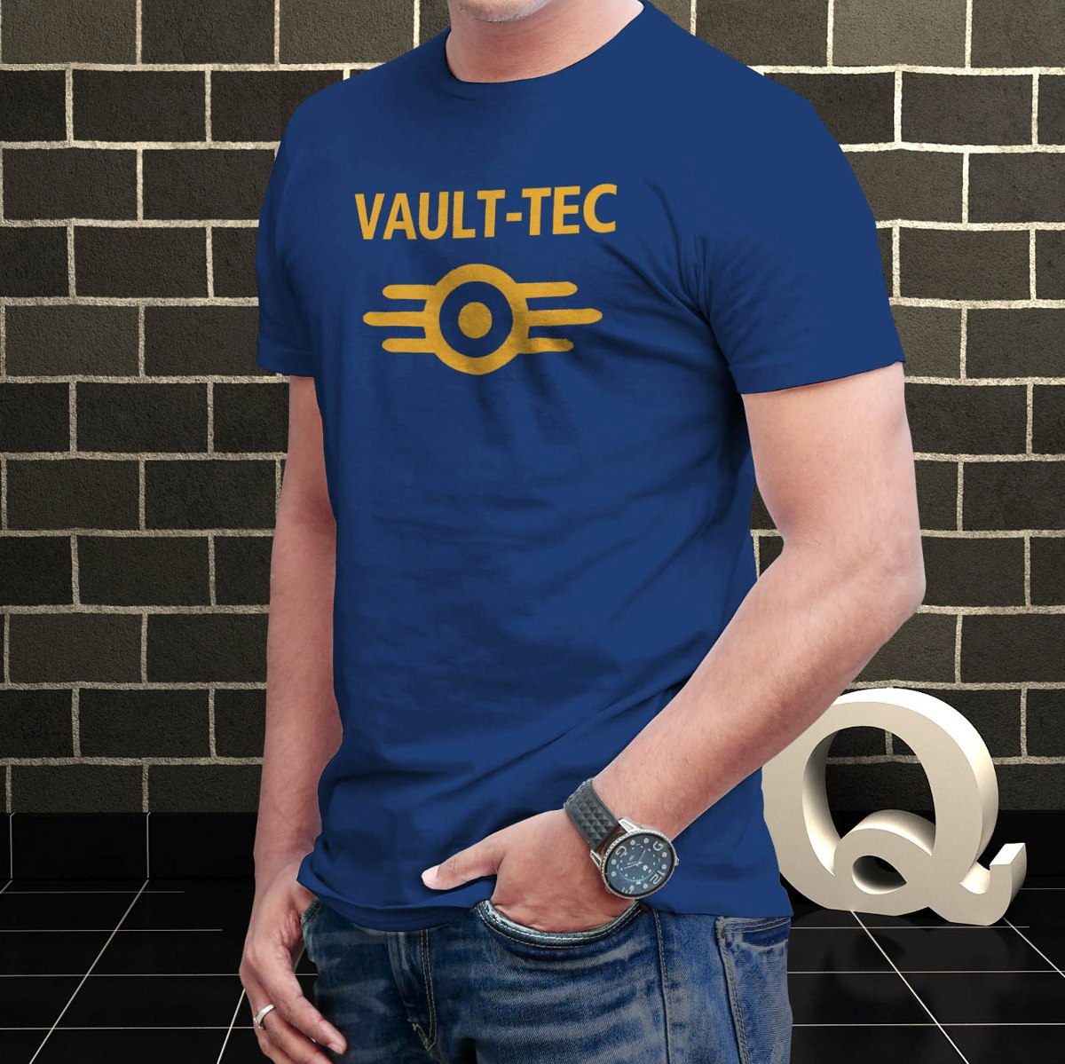 Remera Vc 100% Algodon - Fallout - Vault Tec -   749 b2b913161abee