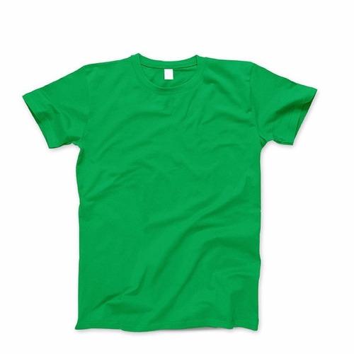 remera verde cuello redondo y mangas cortas