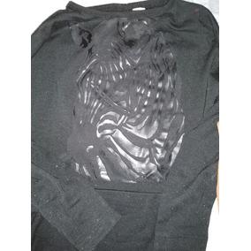 1a6aeaa36 Remera Vestir Diseño Engomado Negra M.larga 3-4 Años Hermosa
