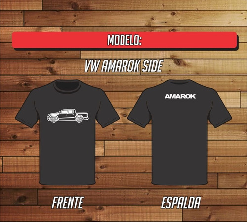 remera vw amarok side estampada 100% algodon reforzada