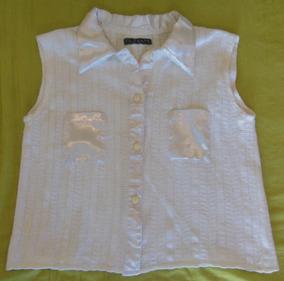 35065c404 Remera/chomba/camisa Sin Mangas Tejido Detalles Raso S-