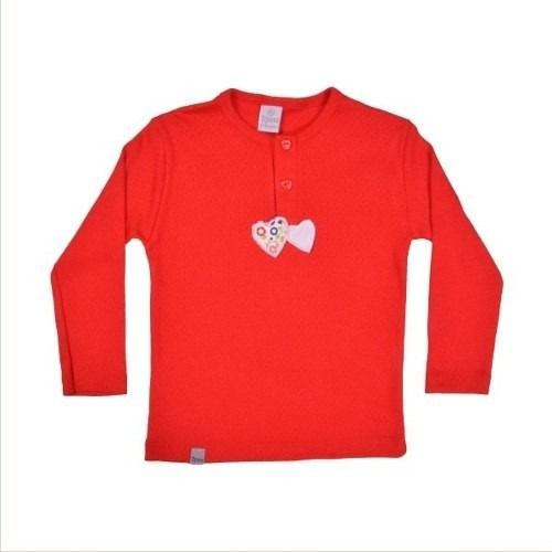remeras algodón corazones risata 12-18 meses little treasure