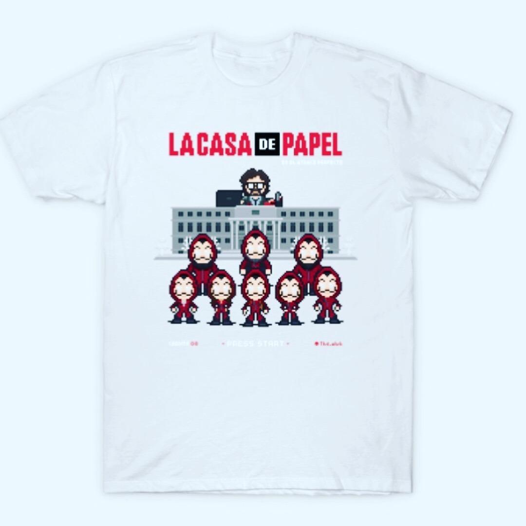 Camiseta Diseño la Casa Papel. Consultar Medidas en la Descripción de la  Camiseta. a118e9dc23961