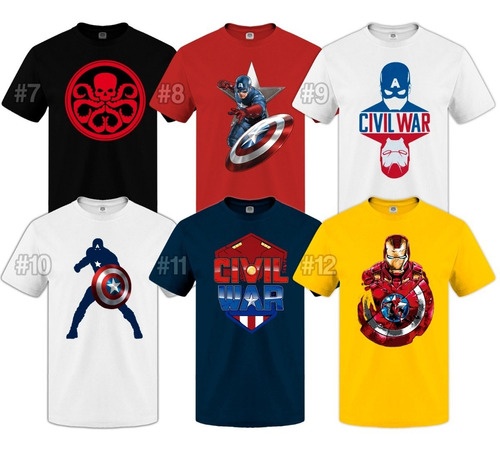 remeras capitan america civil war comic superheroe