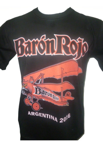 remeras de barón rojo rockería que sea rock villa ballester