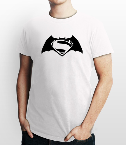 remeras de batman vs superman de algodon estamp. vinilo