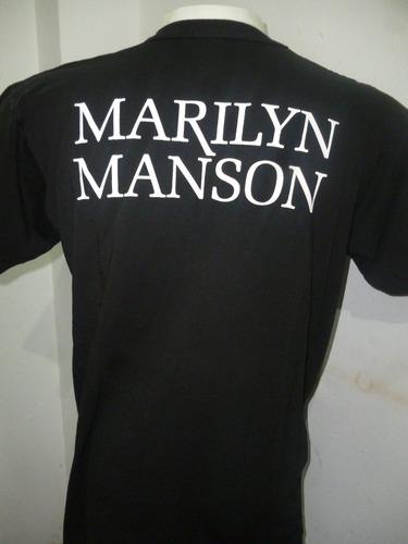 remeras de marilyn manson - varios modelos - que sea rock!!!