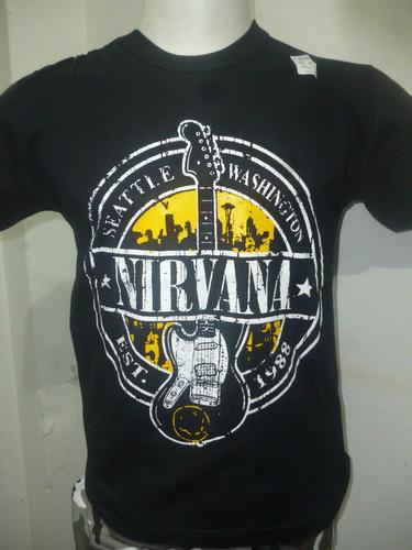 remeras de nirvana - varios modelos - que sea rock!!!
