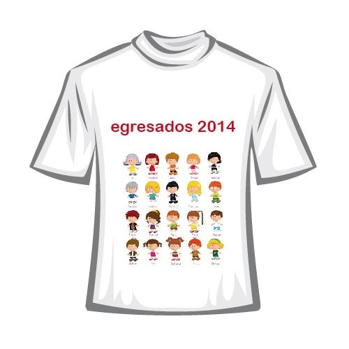 remeras egresaditos/egresados/clubes/sublimadas - full color