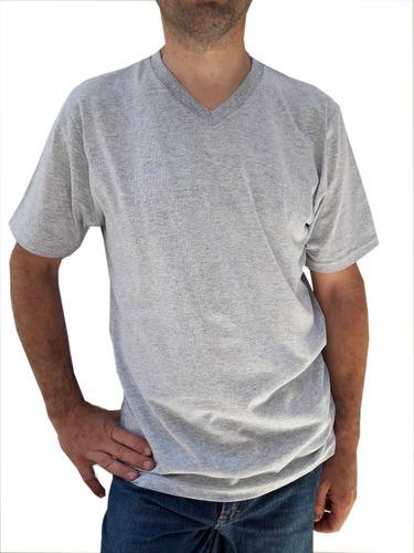 remeras escote v  cotton 100% strong talles s al xl