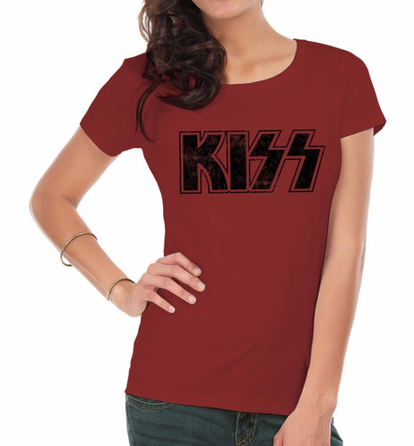 remeras estampadas mujer   kiss  inkpronta